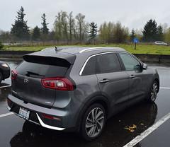 2018 Kia Niro Touring (D70) Tags: kia niro touring graphite rest stop washington usa raining nikon d750 20mm f28 ƒ71 200mm 1200 100 scatter creek area i5 northbound hybrid electric
