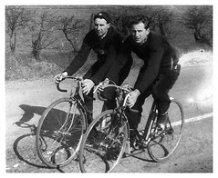 Men in Black. (Paris-Roubaix) Tags: chryston wheelers cycling club north lanarkshire hb tweed harry john montgomery monty vintage black white photographs bike bicycle