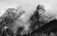 Search For Things You Cannot See (John Westrock) Tags: nature blackandwhite monochrome mountains landscape clouds trees rugged snoqualmiepass pacificnorthwest washingtonstate canoneos5dmarkiii canonef100400mmf4556lisusm johnwestrock