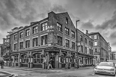 The Abel Heywood, Turner Street, Northern Quarter, Manchester (dlsmith) Tags: gritty blackwhite byn manchester northernquarter nq abelheywood publichouse pub bw monochrome monochromatic hdr photomatix england boutique hotel
