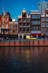Amsterdam Street View (Octal Photo) Tags: 500px netherlands city architecture cityscape water canal harbor house old building exterior travel people vehicle river side ladder person street amsterdam view noordholland
