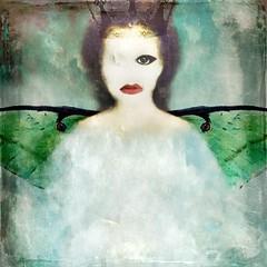 Sing a song of sixpence (lorenka campos) Tags: artdigital tragedy wings portrait luna popart modernart art melancholy nurseryrhymes
