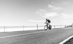 DSC06372-2 (Guðmundur Róbert) Tags: time trial tt iceland icelandic cycling biking road bike bikes reiðhjól bjartur hjól sony a7ii 14mm 2870mm black white sun down water aero uphill