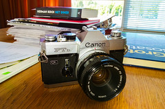 Dusted off and fully charged (Frendli Bear) Tags: camera photo photography canon ftbql analogue 50mm lens nostalgia 1970