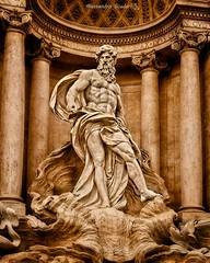 Oceano Statue (al.scuderi71) Tags: oceano statue statua panasonic gh4 on1photoraw2018 on1pics italy italia rome roma barocco fountain brown marrone columns ocean mitology mitologia corpoumano humanbody conchiglia marmo carrara architettura architecture tourism trevi