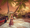 Sunset Majestic (Brooklyn MacIntyre) Tags: innocent fashion 3 adored fantasy cutie second sl cute girl catwa catya babygirl stunning maitreya secondlife famous gorgeous playful sensual sexy portrait beach sunset boat