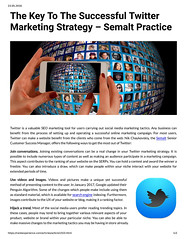 The Key To The Successful Twitter Marketing Strategy - Semalt Practice (unkautomobile) Tags: semalt seo marketing tips