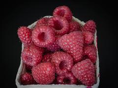 Our first locally produced raspberries (frankmh) Tags: berry raspberry hittarp skåne sweden food dessert