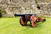The Pevensey Gun (Keith in Exeter) Tags: gun cannon carriage pevensey castle sussex innerbailey wall stonework grass barrel