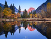 Fall Reflections - Yosemite! - Explored! (Mohanram Sathyanarayanan) Tags: colors vibrant reflections half dome yosemite mountains nps national park alpenglow granite peaks halfdome fallcolors oak cottonwood landscapes