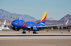 Southwest (Triple Crown livery) - Boeing 737-7H4 - N409WN (vegas av spotter) Tags: n409wn klas las mccarran aviation boeing southwest airlines 737 7377h4 triple crown aircraft airplane