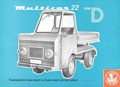 1970 Multicar side dump truck (Hugo-90) Tags: 1970 veb multicar ddr truck ads advertising brochure side dump fahrzeugwerk