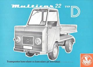 1970 Multicar side dump truck