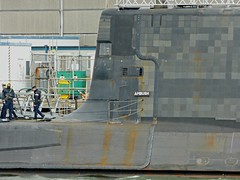 L2018_0682 - HMS Ambush at Devonport Dockyard (www.jhluxton.com - John H. Luxton Photography) Tags: royalnavy ship devon devonport hmdockyarddevonport uk england rivertamar warship leica submarine astuteclass nuclearsubmarine devonshire navy naval wwwjhluxtoncom johnhluxtonphotography leicavlux3 westcountry s120