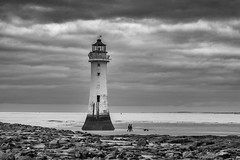 Let there be Lighthouse... (Spokenwheelphotography) Tags: lighthouse lighthouses fortperchrock newbrighton wirral cheshire wirralglobe wirralnews fuji fujifilm fujifilmxt2 56mm blackandwhite blackwhite blackandwhitephotography bnw moody monochrome smallpeople clouds cloudporn liverpool liverpoolecho coast beautiful beauty beach lighthousecaptures