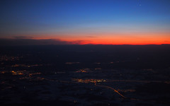 Sunset from above (:NFR:) Tags: sas sk1475 norge norway