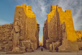 Entrada Simetrica de Templo en Luxor