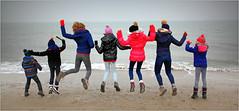 """...qui adore s'envoyer en l'air!"" De Banjaard, Kamperland, Noord-Beveland, Zeelande, Nederland (claude lina) Tags: claudelina nederland hollande paysbas zeelande zeeland merdunord noordzee plage dune beach debanjaard kamperland noordbeveland"