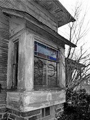 The Builders Craftsmanship (nelhiebelv) Tags: baywindow abandoned ruin forlorn lowell michgan craftsmanship stained glass