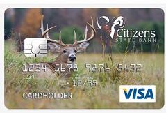 Visa Credit Card (Jim Cumming) Tags: whitetaileddeerbuck deer buck credit card visa