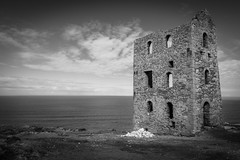 Abandoned (Lloyd Austin) Tags: composition contrasting vista dramatic blackwhite bw bnw mono blackandwhite monochrome d7200 nikon sigma1750mm industrial peaceful view sky mining rocks cloudscape clouds seascape landscape land sea building stone tinmine england cornwall stagnes enginehouse whealcoates abandoned