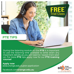Orange PTE Training for International Students (orange.edu.au) Tags: orange ptetraining pte pearson test english pteacademictest australianinstitutions small classes individual attention easily accessible location
