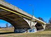 Chrobry's Bridge (tom_kar) Tags: bridge road swojczyce swojczycka architecture graffiti concrete lamp wroclaw wrocław canal chrobrybridges mostychrobrego sepolno sępolno infrastructure city most pipe pipeline