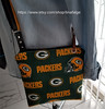 Green bay Packers, NFL (tinafalge) Tags: wisconson green bay packers handbags accessories cross body tote bag women woman silver rivets hardware handmade cotton fabric faux leather embossed floral black color mothers day gift