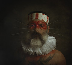 Aboriginal II. (jcalveraphotography) Tags: selfportrait selfie serie studio portrait photo photographer projects people picture person painting red recreated 365 explore 365days eyes black fineart face artofvisual artistic art