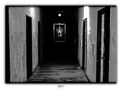 CORRIDOR OF CELLS (régisa) Tags: corridor cell testdept testdepartment konzentrationslager dachau concentration camp cellule prison