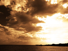 Apocalyptic gold !!! (François Tomasi) Tags: sky angoulins charentemaritime sudouest france europe french yahoo google flickr françoistomasi tomasiphotography water eau sea mer océan lights light lumière iso clouds cloud nuages nuage sombre dark pointdevue pointofview pov paysage reflex nikon photo photographie photography photoshop filtre digital numérique travel voyage tourisme horizon or gold avril 2018 justedutalent