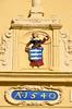 Enkhuizen, gevelsteen in de stadspoort de Drommedaris, Nederland 2017 (wally nelemans) Tags: enkhuizen stadspoort citygate gevelsteen facingbrick drommedaris nederland holland thenetherlands 2017