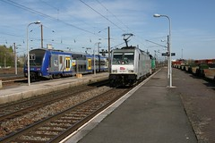SNCF 186 189-7 (Harrys Train photos) Tags: akiem traxx bombardier e186 e186189 trein train railway railroad sncf hazebrouck fret