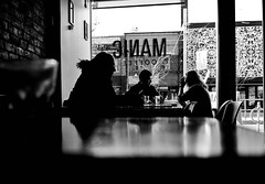 Manic Coffee (j-riviere) Tags: leica light contrast bw blackandwhitephotography toronto canada leicame city coffee culture maniccoffee