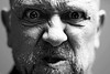 Anger (BWSforever) Tags: me man face male bw blackandwhite closeup portrait nose beard snarl fury agitation challenge
