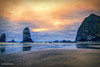 Cannon Beach Mirage (HSS) (buffdawgus) Tags: oregoncoast haystackrock pacificcoast westcoast canonef24105mmf4lisusm pacificocean landscape lightroom6 topazsw seascape clatsopcounty oregon canon5dmarkiii cannonbeach