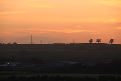 after the sun ... (kokoschka's doll) Tags: evening sunset sky westauckland pylon trees factory works