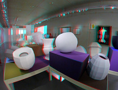Boijmans Rotterdam 3D GoPro (wim hoppenbrouwers) Tags: boijmans rotterdam 3d gopro hella jongerius breathing colour anaglyph stereo redcyan hellajongerius breathingcolour