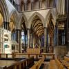 The sanctuary, Salisbury cathedral (Jon Sketchley) Tags: england wiltshire salisbury sarum cathedral gothic mediaeval earlyenglish sanctuary highaltar vault arches pillars