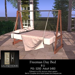Freeman Day Bed (Rob Galland {Galland Homes}) Tags: gallandhomes go by fameshed mesh furniture secondlife