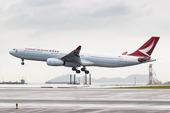 CATHAY DRAGON A330-300 B-LBF 001 (A.S. Kevin N.V.M.M. Chung) Tags: aviation aircraft aeroplane airport airlines plane spotting hkg airside landing arrival a330 a330300