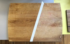 Taking care of my primary wooden cutting board (mpieracci) Tags: cuttingboard kitchen oil mineraloil oiling domesticity domesticengineering