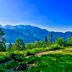 View from Nußlberg near Kiefersfelden towards Kaiser mountains, Bavaria, Germany thumbnail