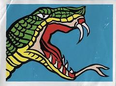 Spook Theatre Sticker ( Leaf 1961 ) (Donald Deveau) Tags: leaf spooktheatre tradingcards sticker snake monsters spookstory