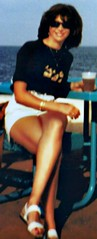 having a craft brew (jemingway3) Tags: hot sexy brunette babe mature married shared wife mom milf hotwife lynda legs feet toes short skirt mini miniskirt drinking