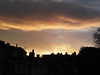 At the end of the day..... (catrionatv) Tags: buildings aerials chimneypots clouds distantrain afterglow