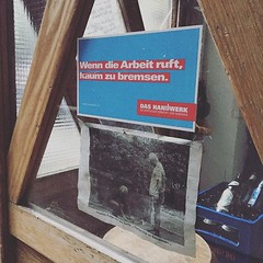 Grüße aus der schönsten Hinterhofwerkstatt Frankfurts! #f8 #baustudio (kikuyumoja) Tags: instagram