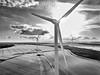 Power in the landscape (Phyllis072) Tags: drone windturbine marr england unitedkingdom gb dji mavicpro bw blackwhite blackandwhite doncaster southyorkshire