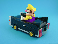 Wario's Brute (back view) (Unijob) Tags: lego knex mario wario nintendo videogames kart racing race car vehicle cadillac brute ds have rotten day plumber brutus small chibi bricks wheels leg godt hoodie lights toy unijob lindo moc own creation hood wheel technic system moustache figure