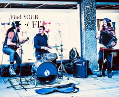 83/365 Find Your Fit (denise.ferley) Tags: musicians music urban uk oneaday fun citylife thisisnorwich thisisengland norwich peopleinthestreet peoplewatching buskersbusking streetartist streetphotography